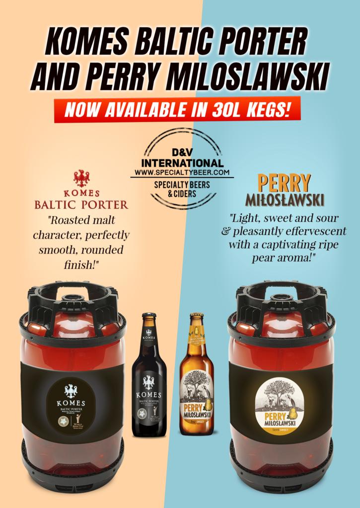 Komes Baltic Porter & Perry Miloslawski 30L Kegs